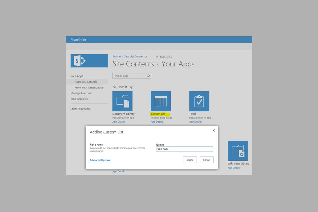 SharePoint on-prem Integration | Layer2 Business Data List