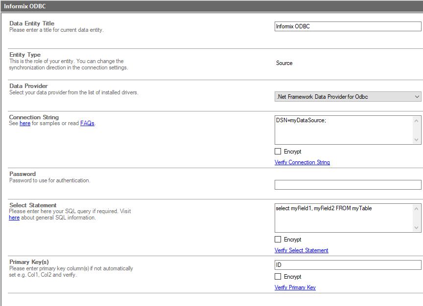 bdlc IBM Informix sharepoint integration screenshot
