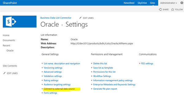 Oracle to SharePoint Data Integration and Synchronization