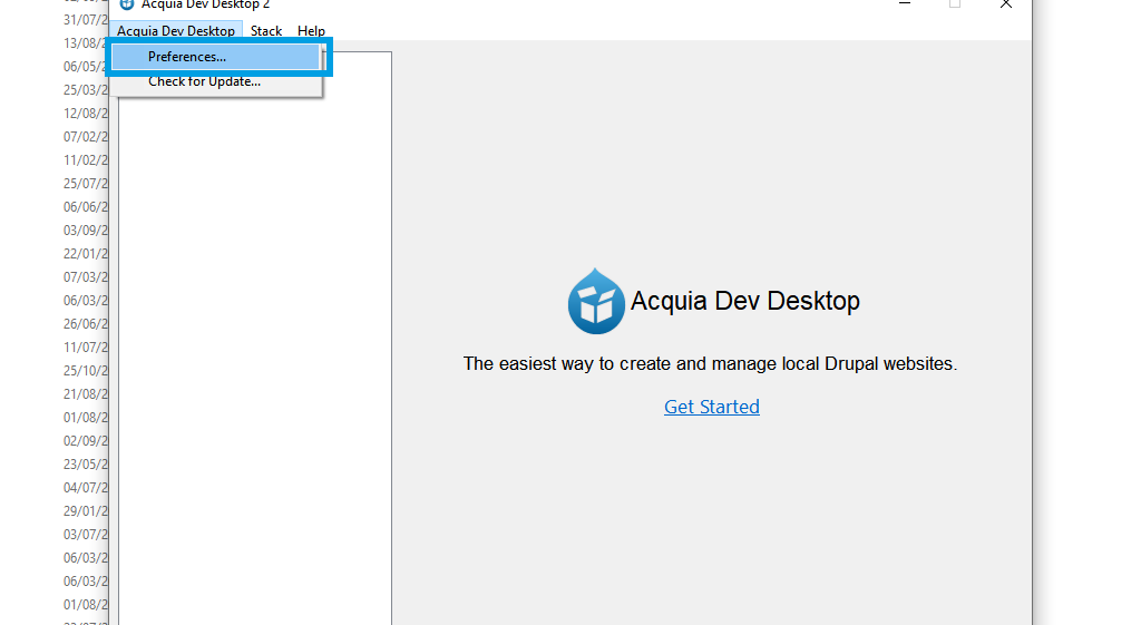 Acquia preferences
