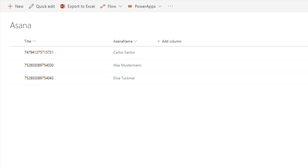 Finished: Asana integration in SharePoint