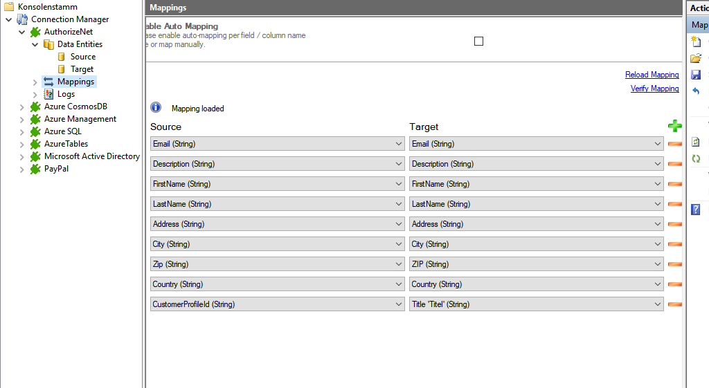 Step 4 AuthorizeNet integration mapping