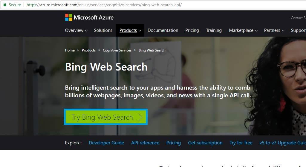 Data of Bing Search ready for integration with SharePoint