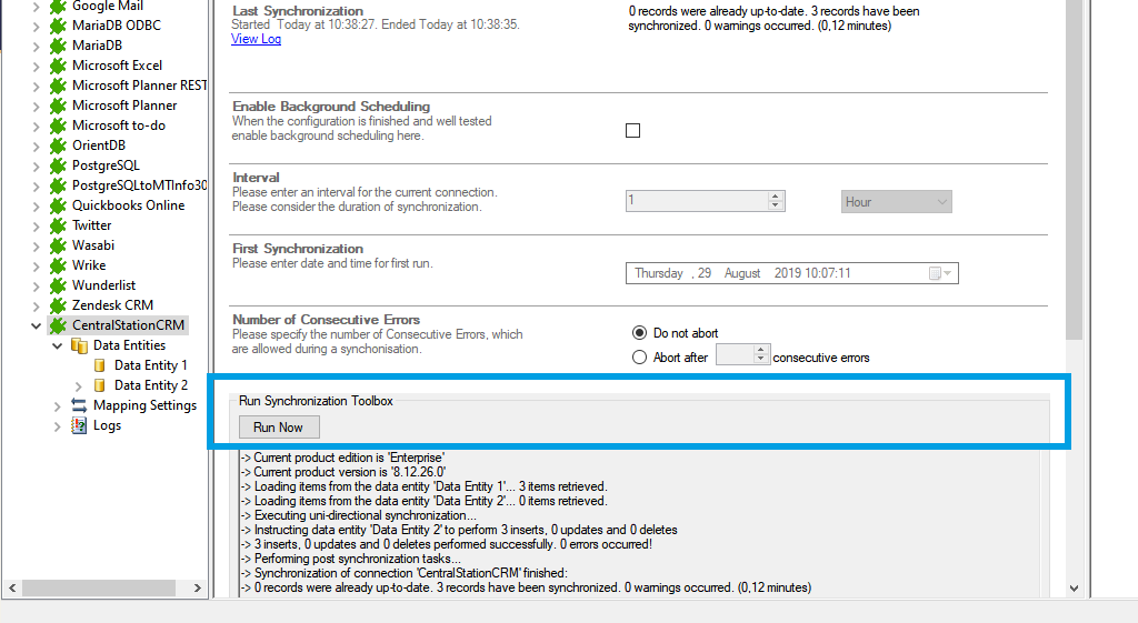 Step 5 CentralStationCRM data integration start.png