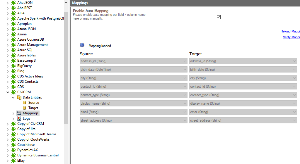 Step 4 CiviCRM integration mapping