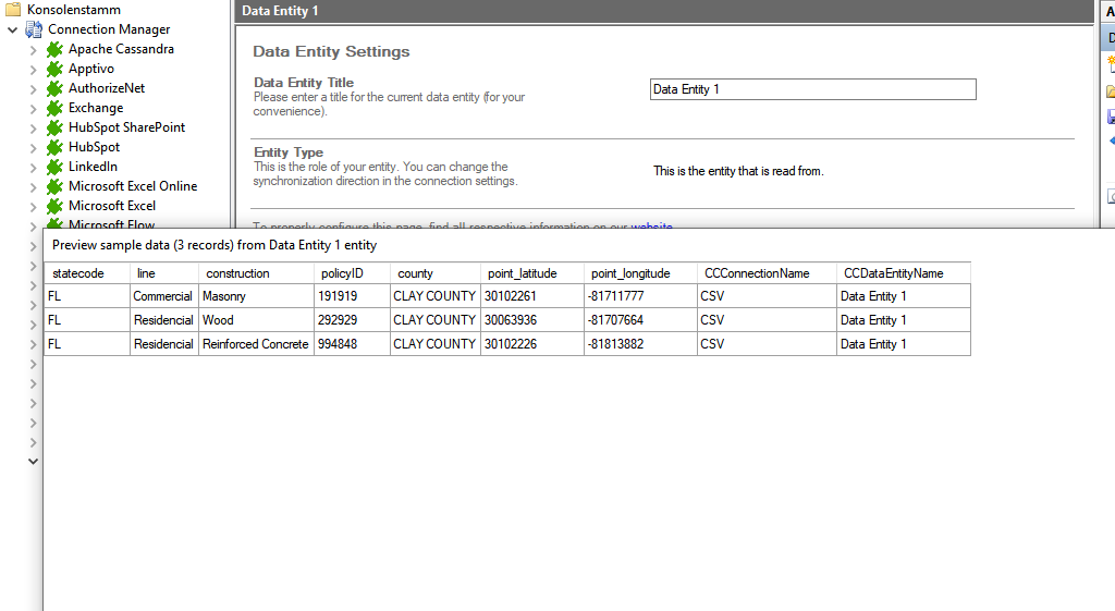 Preview data of CSV integration.png