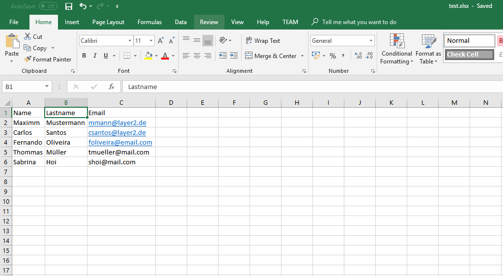 Example: Ready excel data for SharePoint integration