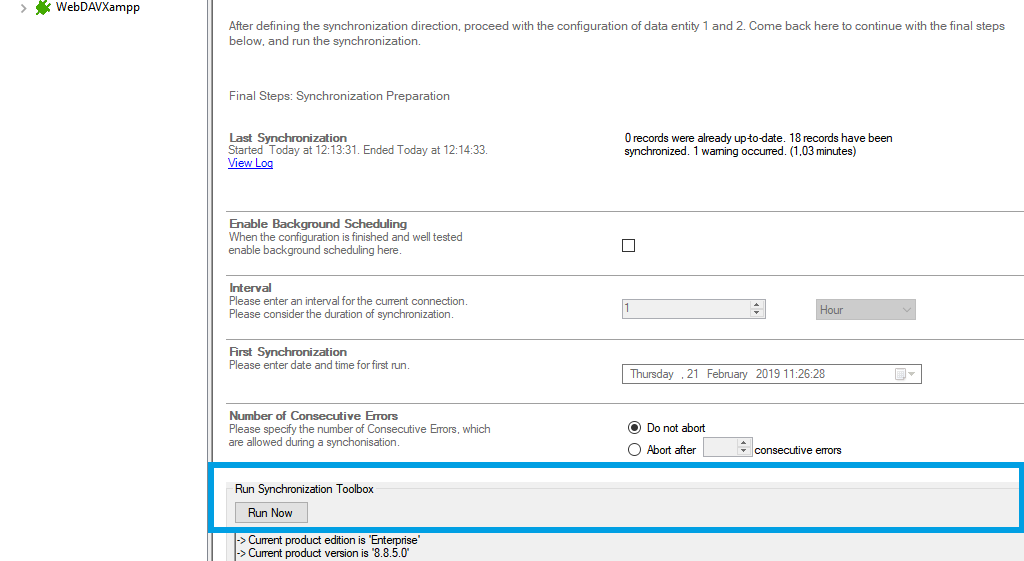 Step 5 File System NTFS extended attributes data integration start