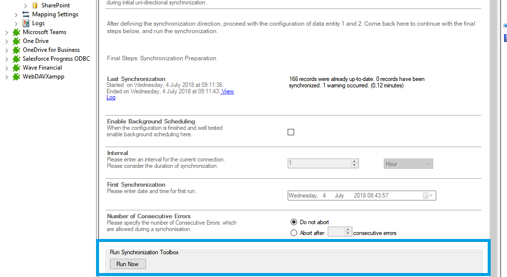 Step 5 Microsoft Access data integration start.png