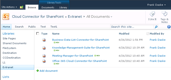 sharepoint documents sync from intranet