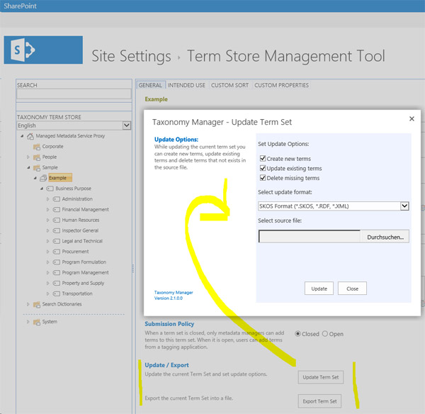 SharePoint-Taxonomy-Manager-Update-Term-Set